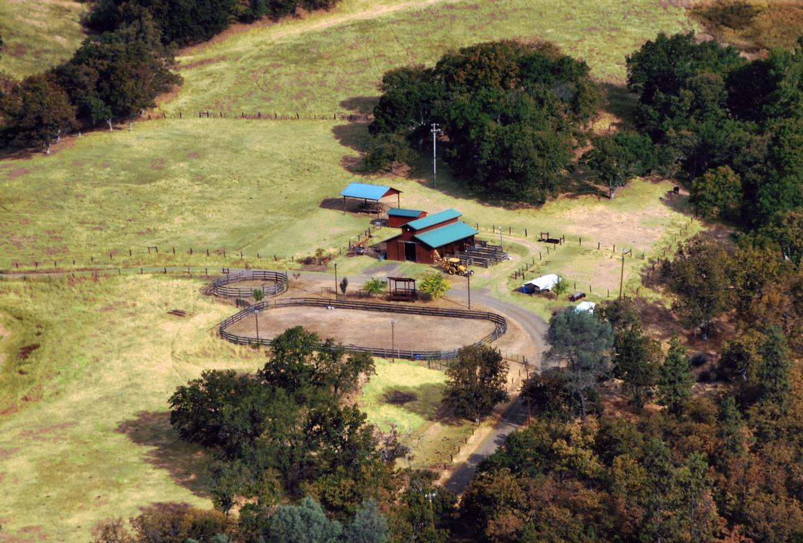 Aerial of Barn and Arena