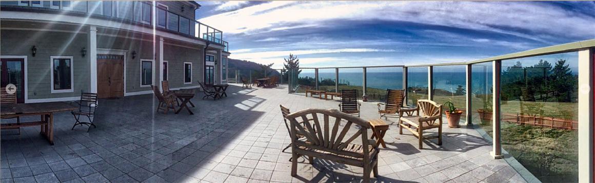 Deck to ocean panorama