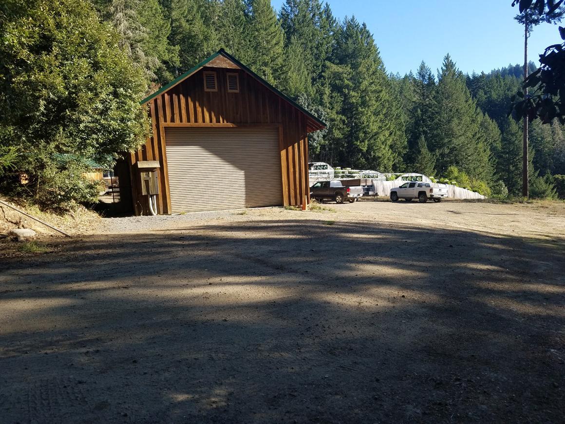 Huge barn-style garage