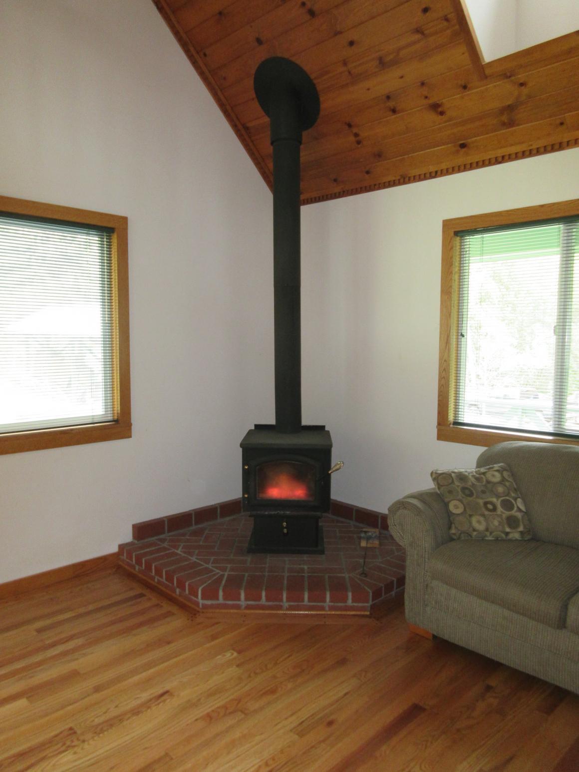 Living room woodstove
