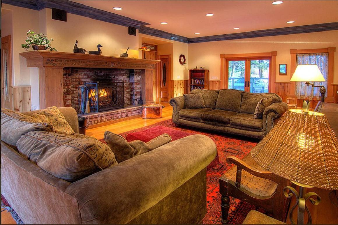 Main living and fireplace