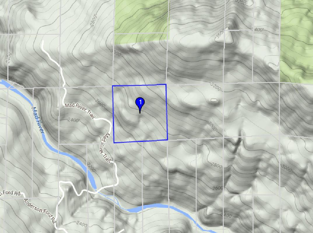 Map showing topo and river