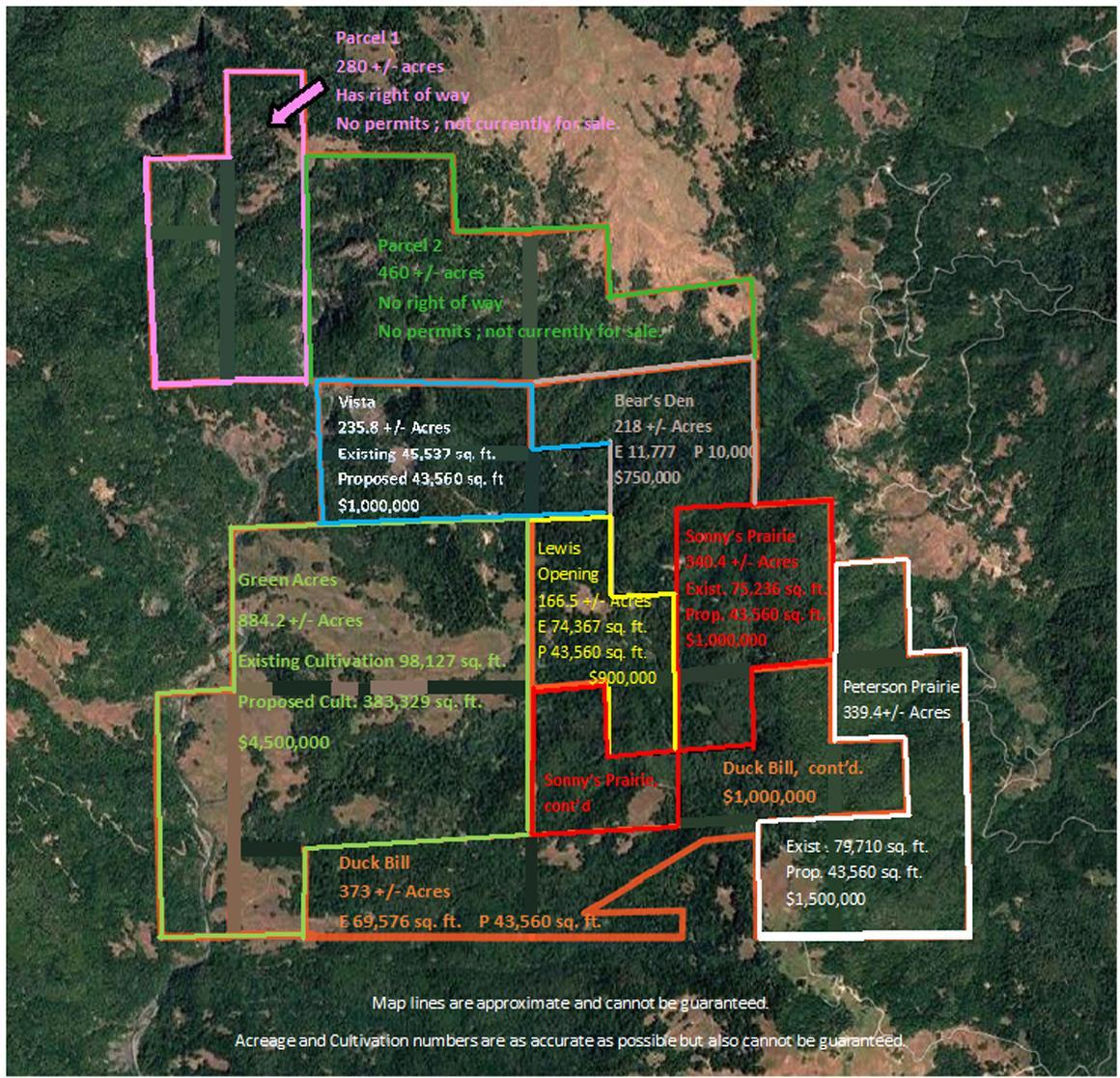 Ranch parcels map