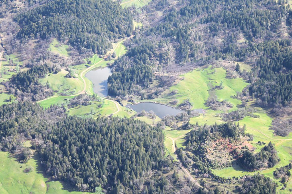 Aerial view of Twin Lakes