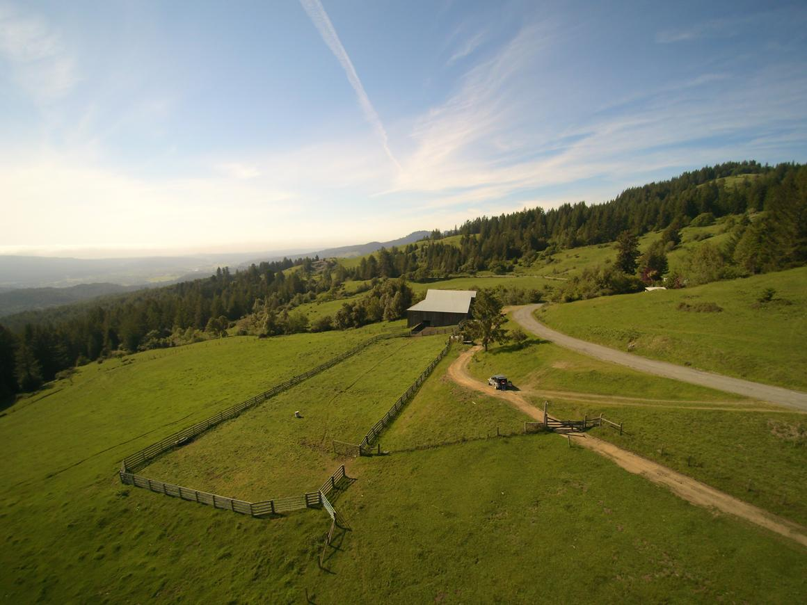 Corral and one barn