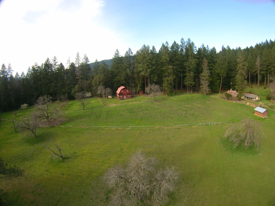 Aerial to home and barn