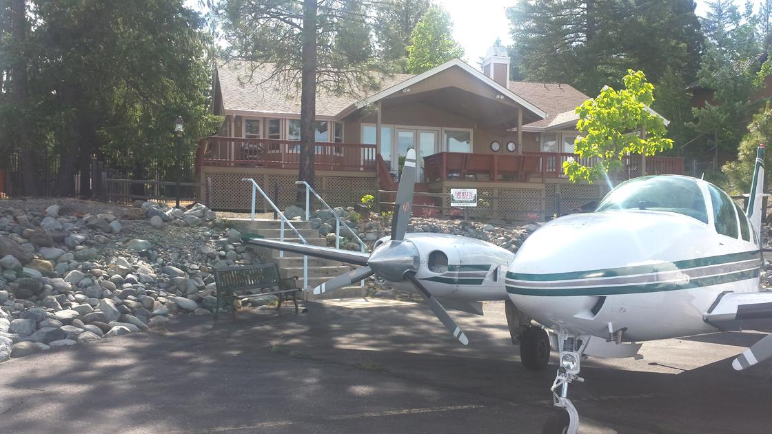 A plane at the home