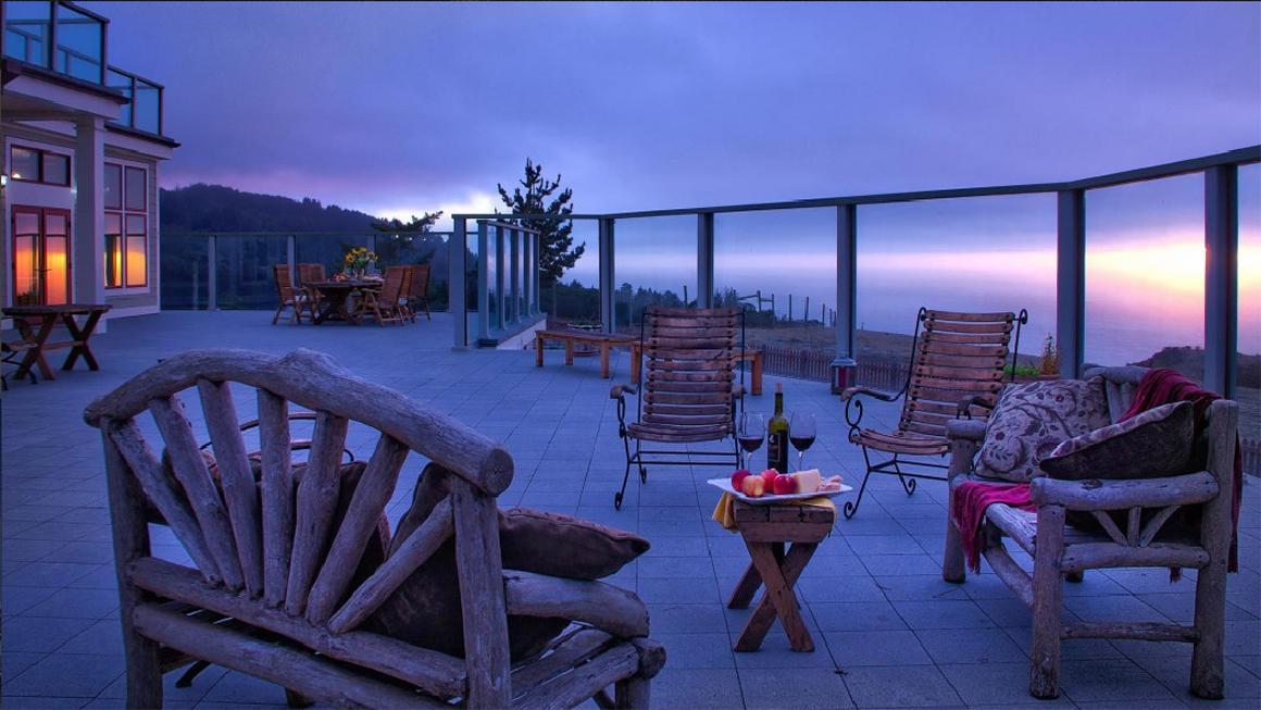 Deck at twilight