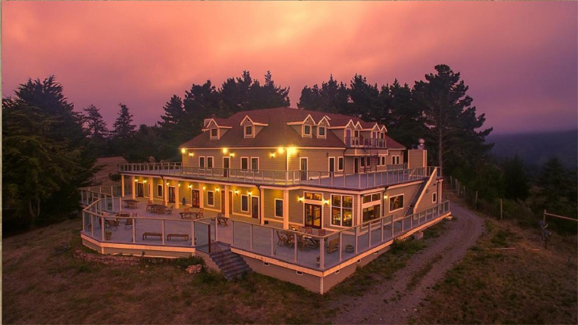 Manor at twilight