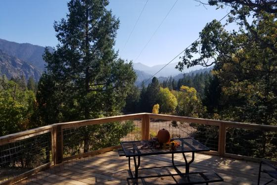 Autumn view from the deck